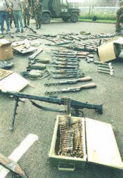 Small arms confiscated from local police.