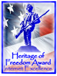 Heritage of Freedom Award for Internet Excellence